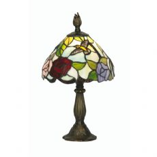 Aspen 1x40w Tiffany Floral 8 Inch Table/Bedside  Lamp - OT 2510/8 TL